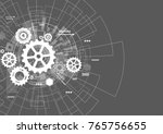 abstract technology background | Shutterstock .eps vector #765756655
