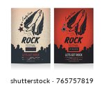 set of rock festival flyer... | Shutterstock .eps vector #765757819