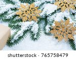 christmas background with gift  ... | Shutterstock . vector #765758479