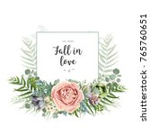 vector floral invite greeting... | Shutterstock .eps vector #765760651