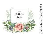 vector floral invite greeting... | Shutterstock .eps vector #765760651