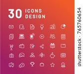 30 icons design for business... | Shutterstock .eps vector #765760654