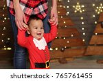 mother and baby on christmas... | Shutterstock . vector #765761455
