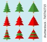 vector christmas tree | Shutterstock .eps vector #765762715