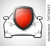 protect car guard shield.... | Shutterstock .eps vector #765763615
