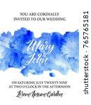 wedding invitation card ... | Shutterstock .eps vector #765765181