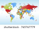 color world map vector | Shutterstock .eps vector #765767779