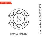 money making icon. thin line... | Shutterstock .eps vector #765771979