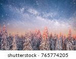 magical winter landscape with... | Shutterstock . vector #765774205