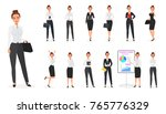 vector set of business woman... | Shutterstock .eps vector #765776329