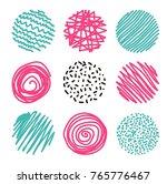 set of hand drawn circles ... | Shutterstock .eps vector #765776467