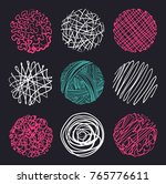 set of hand drawn circles ... | Shutterstock .eps vector #765776611