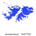 blue gradient falkland islands... | Shutterstock . vector #7657795