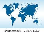 blue world map vector | Shutterstock .eps vector #765781669