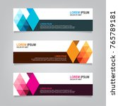 triangle banner background... | Shutterstock .eps vector #765789181