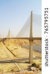 wadi laban bridge  a cable... | Shutterstock . vector #765795751