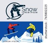winter sport. snowboarding...   Shutterstock .eps vector #765802225