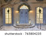 house decorated for christmas... | Shutterstock . vector #765804235