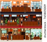 vector set of legal trial...   Shutterstock .eps vector #765805009