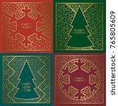 winter season greetings cards... | Shutterstock .eps vector #765805609