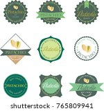set of vector label with... | Shutterstock .eps vector #765809941
