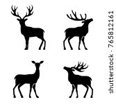 deer collection    silhouette | Shutterstock . vector #765812161