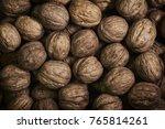 natural walnut background... | Shutterstock . vector #765814261