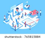 online education concept.... | Shutterstock .eps vector #765815884