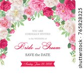 wedding invitation cards with... | Shutterstock .eps vector #765828325