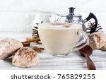 cup of hot cocoa or hot coffee... | Shutterstock . vector #765829255