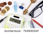 expenses concept. business... | Shutterstock . vector #765830269