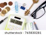 bad credit concept. business... | Shutterstock . vector #765830281