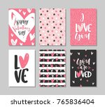 collection of valentine's day... | Shutterstock .eps vector #765836404