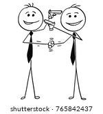 cartoon stick man drawing... | Shutterstock .eps vector #765842437
