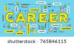 career growth concept. vector... | Shutterstock .eps vector #765846115