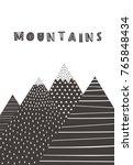 mountains in scandinavian style.... | Shutterstock .eps vector #765848434