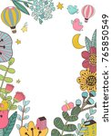 vector design with hand drawn... | Shutterstock .eps vector #765850549