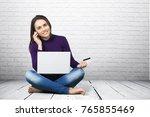 laptop  student  computer. | Shutterstock . vector #765855469