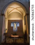 Small photo of GEMONA, FRIULI-VENEZIA GIULIA ITALY - NOVEMBER, 2017: interior detail of Cathedral of Santa Maria Assunta in Gemona del Friuli, Friuli-Venezia Giulia, Italy