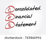 cfs   consolidated financial... | Shutterstock .eps vector #765866941