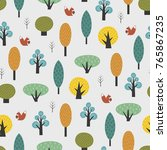 scandinavian style trees with... | Shutterstock .eps vector #765867235