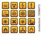 european hazard symbols ... | Shutterstock .eps vector #76586971