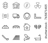 thin line icon set   dollar ... | Shutterstock .eps vector #765871405