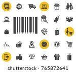 bar code icon on white...