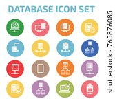 database server icon set vector | Shutterstock .eps vector #765876085