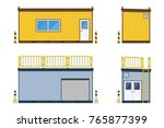 container office construction... | Shutterstock .eps vector #765877399