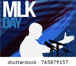 martin luther king day flyer ... | Shutterstock .eps vector #765879157