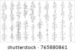 set of horizontal hand drawn... | Shutterstock .eps vector #765880861