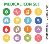 medical icon set vector | Shutterstock .eps vector #765881704