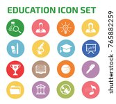 education icon set vector | Shutterstock .eps vector #765882259